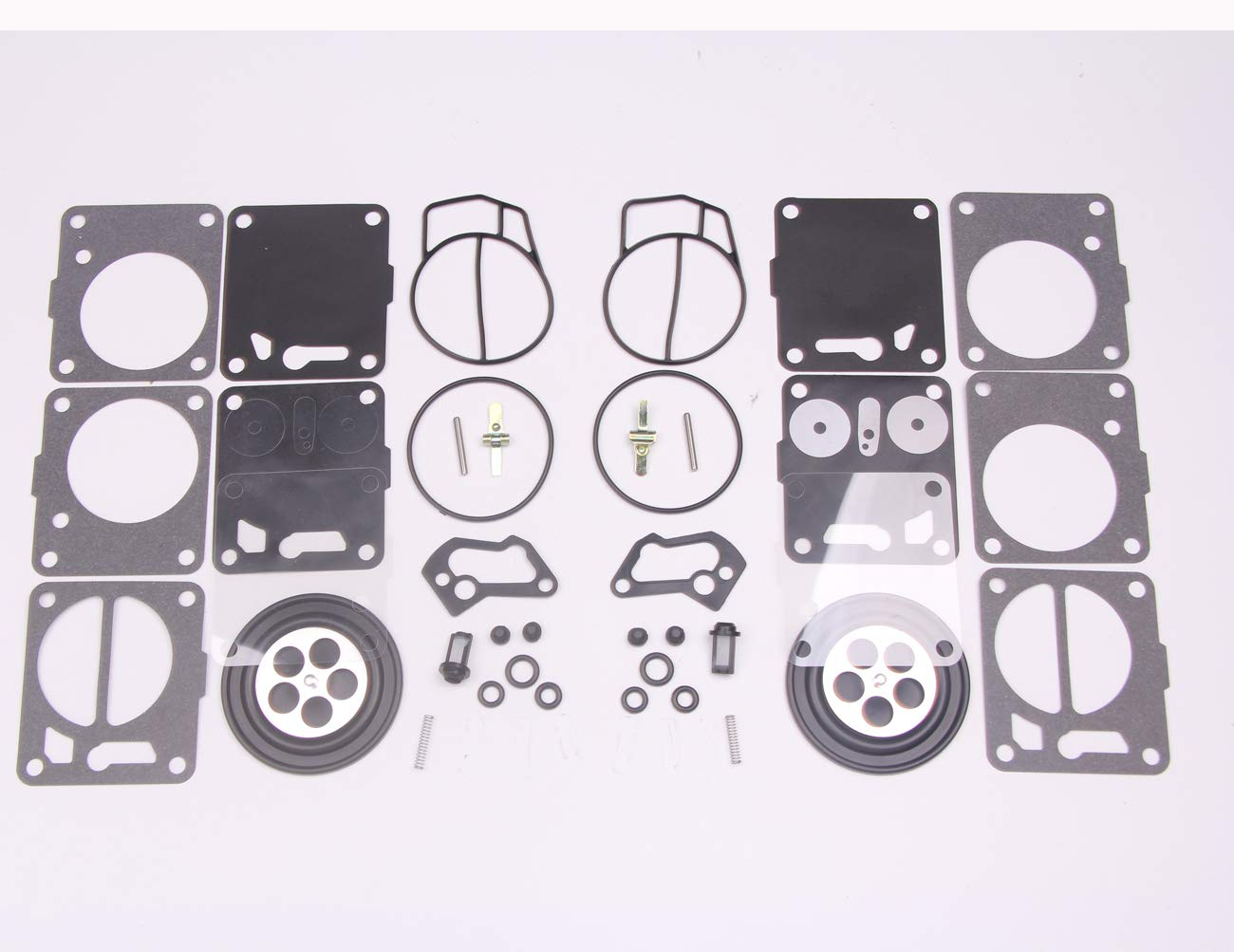 New 2 sets Twin Carburetor Carb Repair Rebuild Kits for Mikuni SeaDoo 50  717 720 787 800 SP GS GTX HX XP SPX GTS