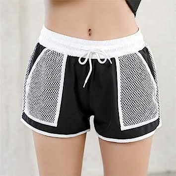 Zgsjbmh Mujer Pantalones Cortos Active Fitness Pocket Sports ...