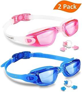 Swim Goggles (2 Pack or 1 Pack), EVERSPORT Swimming Goggles Swim Glasses Anti