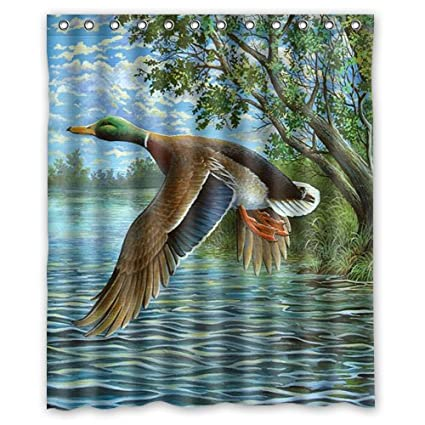 Image Unavailable Not Available For Color Shower Curtain Mandarin Duck Mallard