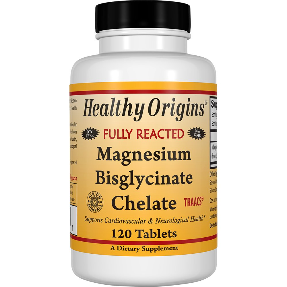 Amazon.com: Healthy Origins Magnesium Bisglycinate Chelate, 360 Count: Health & Personal Care