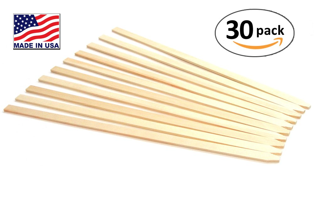 30 Pack 23'' Wood Stakes for Garden or Sign Posting