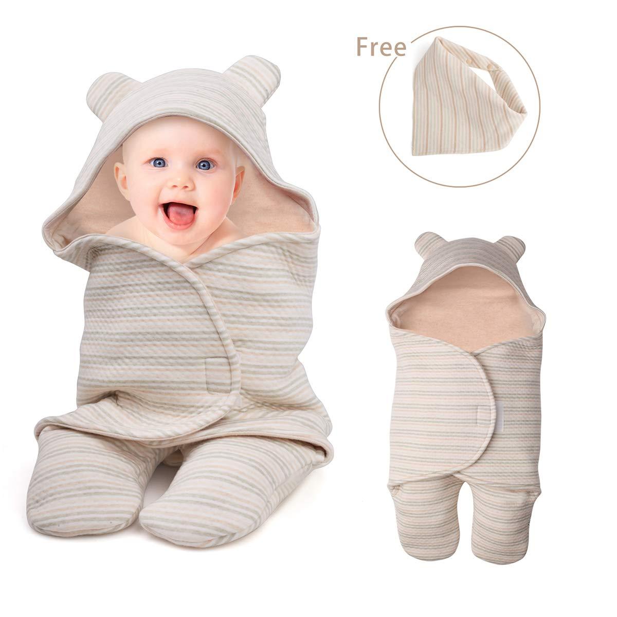 Newborn Baby Boys Girls Cute Receiving Blanket, Baby Kids Wrap Swaddle Blanket Sleeping Bag Sleep Sack Unisex Stroller Wrap for Baby DTC
