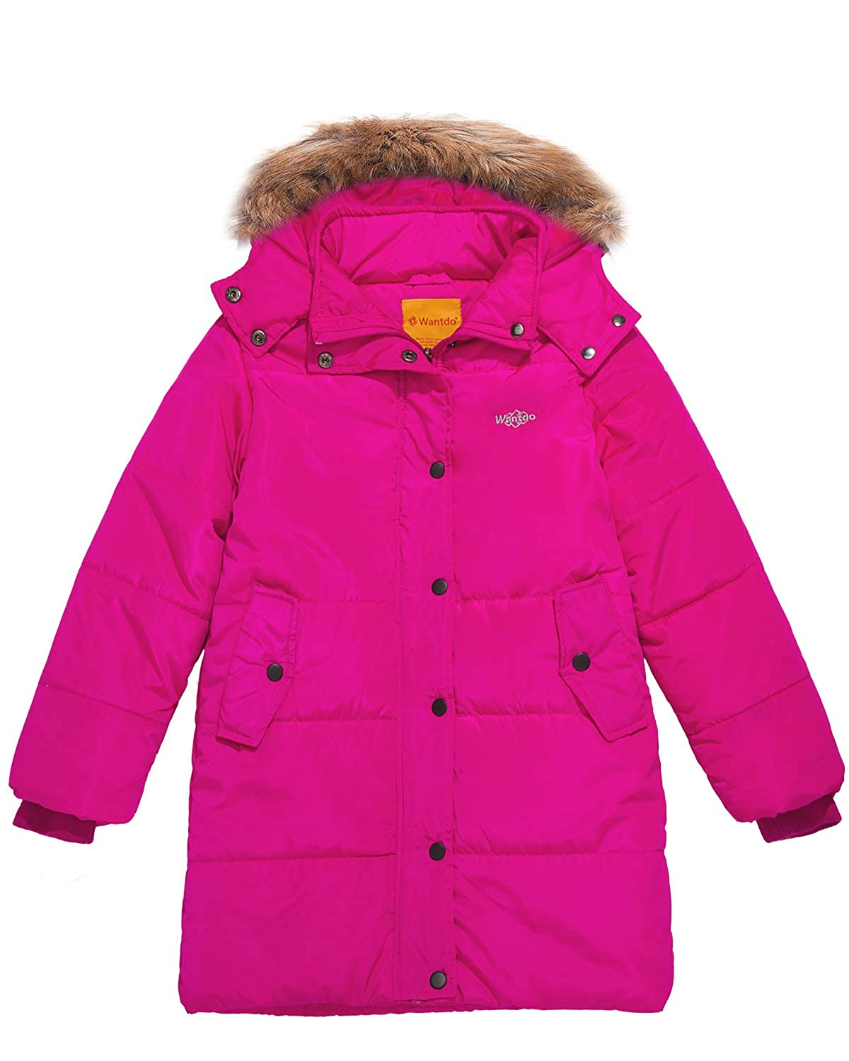 Rose Taille 14 16 Wantdo Fille Veste d'hiver Coupe-Vent