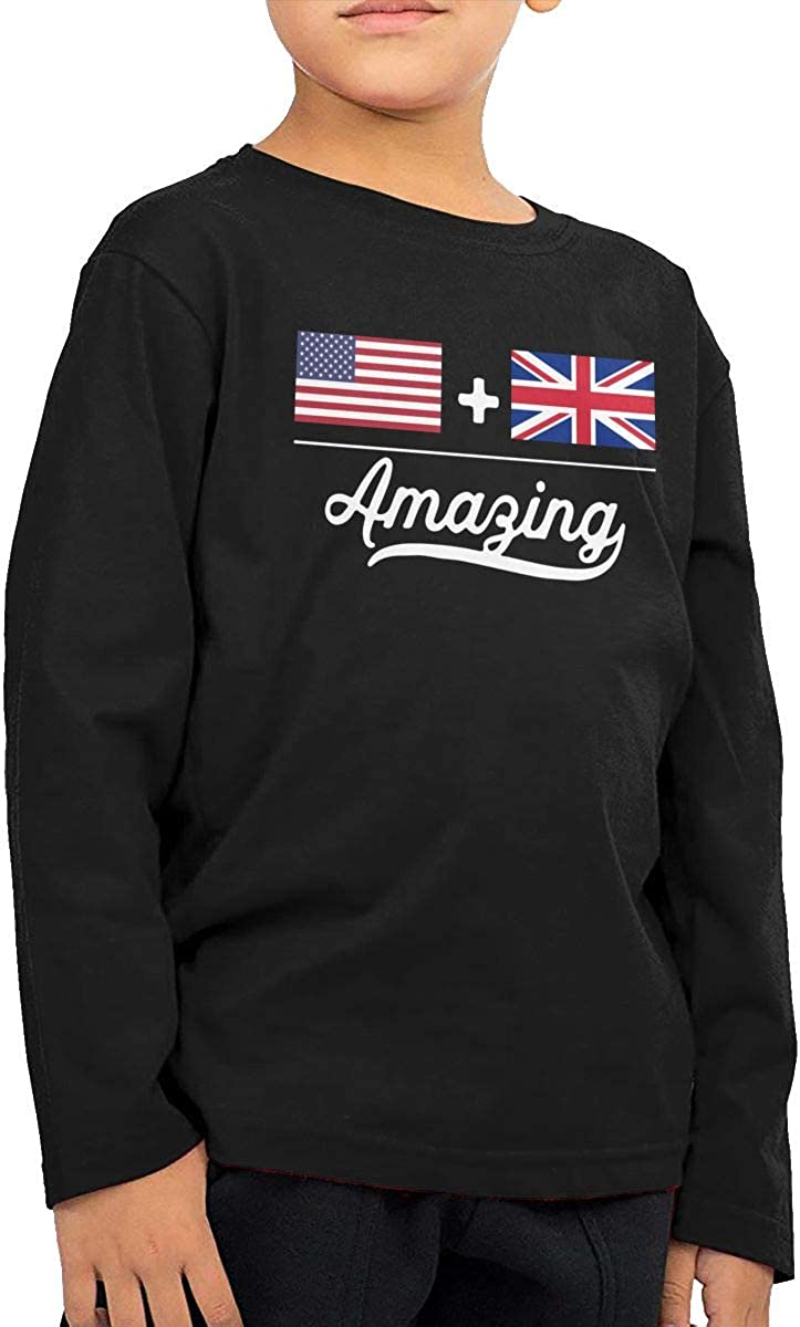 British = Amazing Flag ComfortSoft Long Sleeve T-Shirt CERTONGCXTS Little Girls American