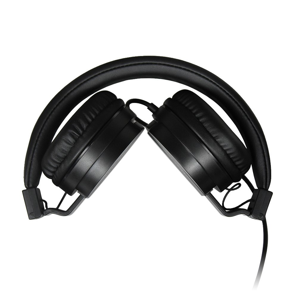 Cascos de Musica, Tauren Auriculares HiFi estéreo plegable para PC, MP3, ipad, iphone,TV, etc, Fuerte Bajo, cojín de oído suave(Negro): Amazon.es: ...