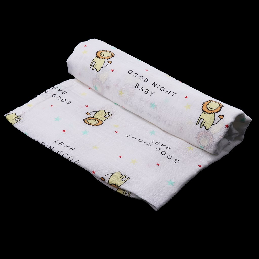 110cm Baby Blanket Soft Muslin Bedding Blanket Wrap Swaddle Bath Casual Towel 110 as described Circle elephant