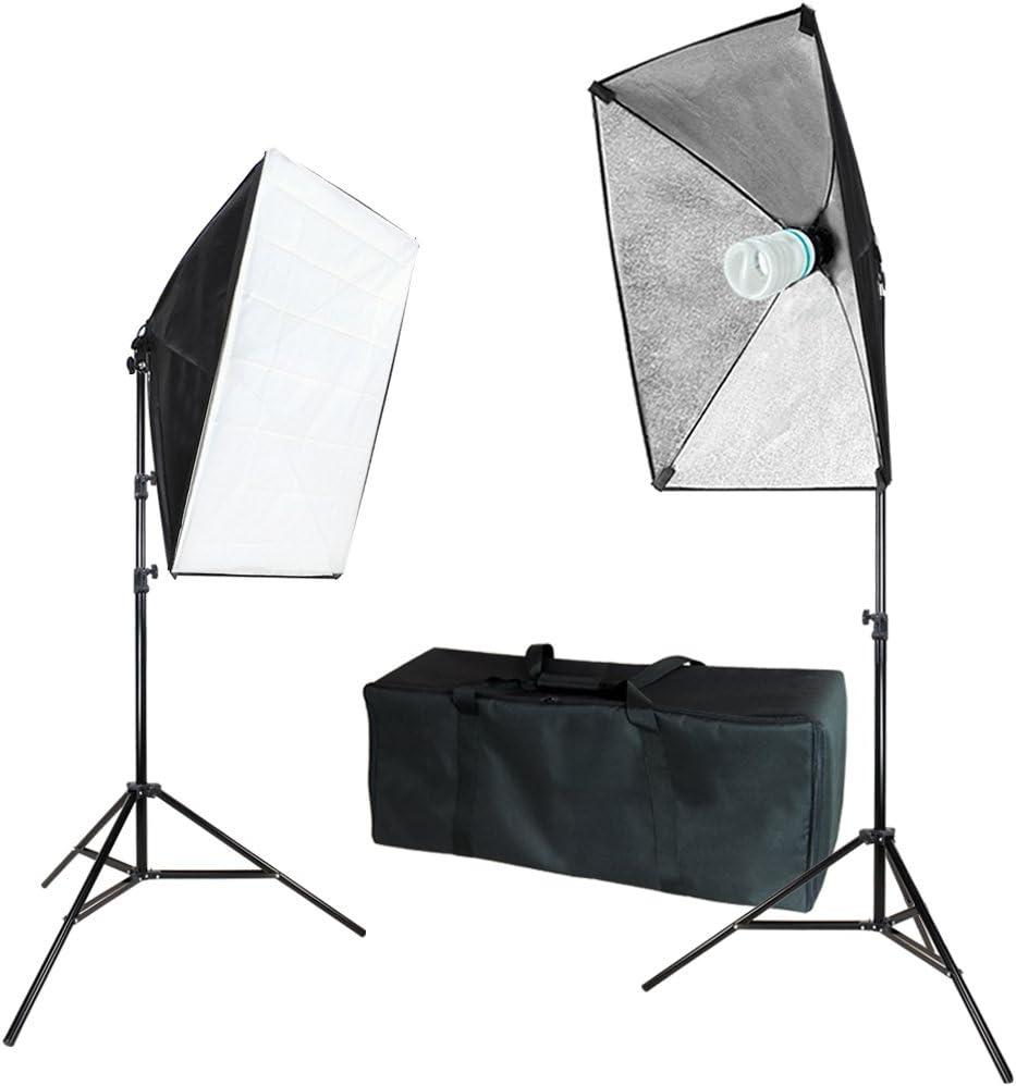 JSAG271 Julius Studio 20 x 28 Soft Box with Bulb Socket Photo Model Portrait Shooting Box Photo Studio Photography Softbox Continuous Lighting System Equipment Light Kit