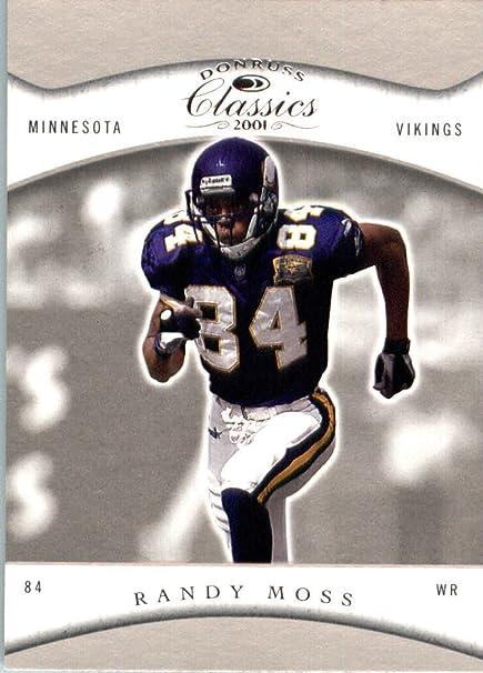 2001 Donruss Classics Football Card  49 Randy Moss Minnesota Vikings ... 05a04f095