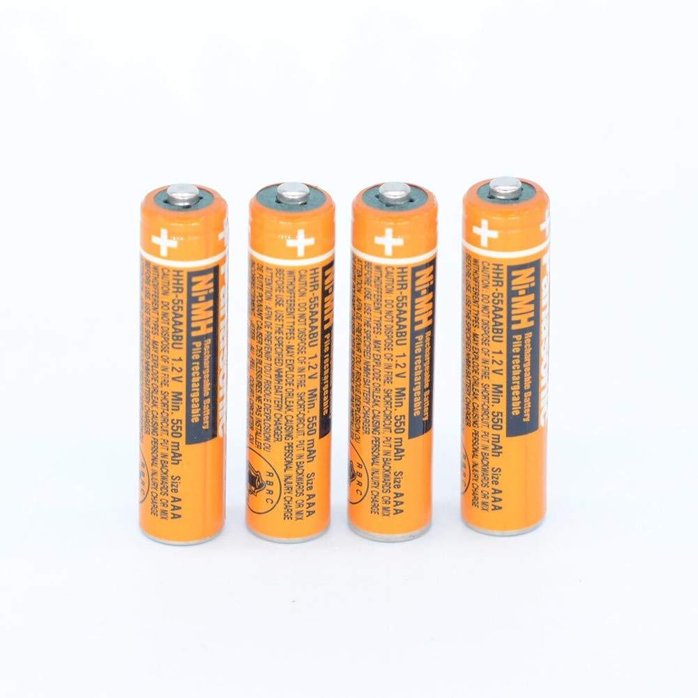 4 baterias NI-MH AAA para Panasonic HHR-55AAABU 1.2V