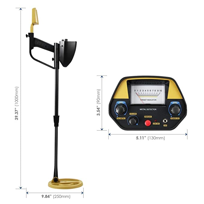 Amazon.com : INTEY Metal Detector GC1039 Pinpoint Function Discrimination Mode High-Sensitivity Coil Waterproof Search Metals, Outdoor Sports, for Teens, ...