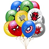 24 pcs superhero balloons, Suitable for superhero themed decorations for children's birthday parties, home entertainment…