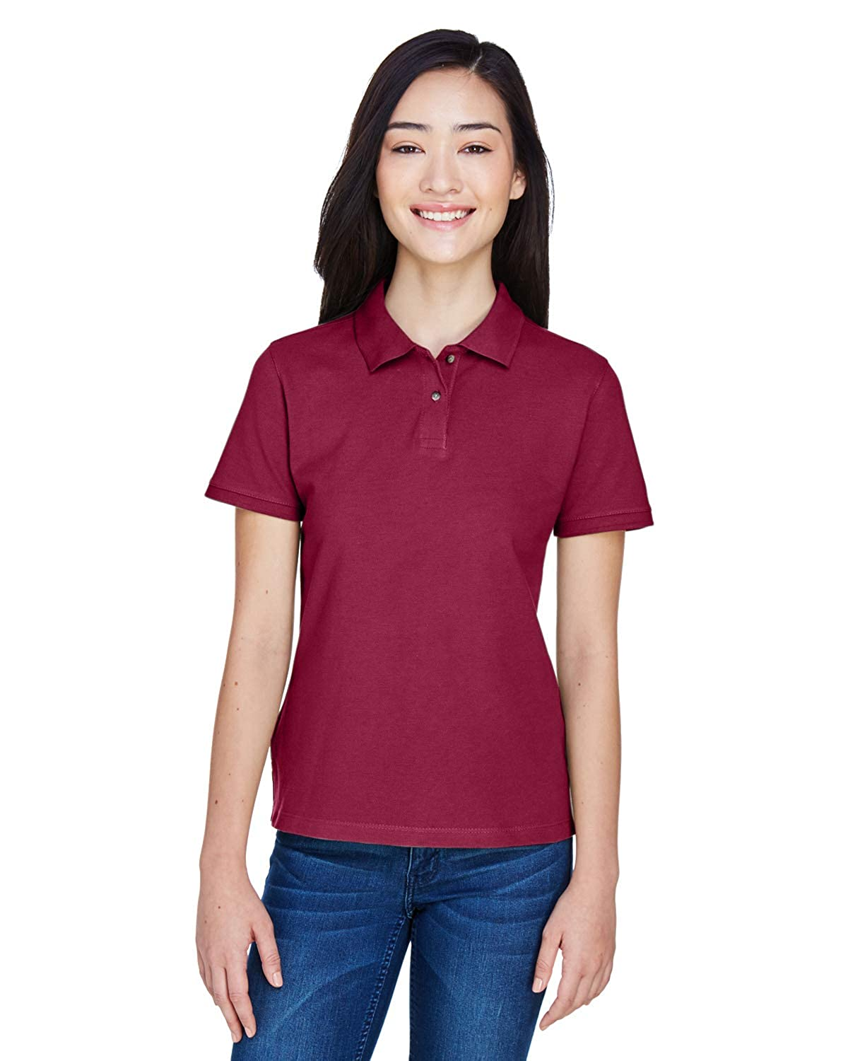 Harriton Ladies 6 oz Ringspun Cotton Piqué Short-Sleeve Polo M200W