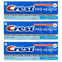 Crest Pro-Health Toothpaste - Clean Mint 4.2 Oz (Pack of 3) by Crest