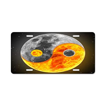 Amazoncom A Smiling Eye Sun Yang Yin Moon License Plate Frame