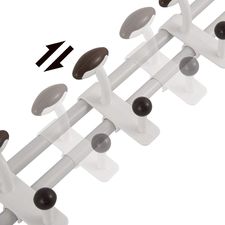 EUGAD Percha para Colgar sobre Puerta Ganchos organizadores para Art/ículos de Cocina Armario de Puerta Puerta de 5 cm Estante de Puerta con 10 Ganchos 58 x 22cm 0126WY