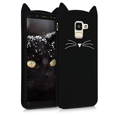 factory authentic c9bdf 9135e kwmobile Cat Silicone Case for Samsung Galaxy J6 - Soft Silicone Gel  Protective Cover with Cute Design