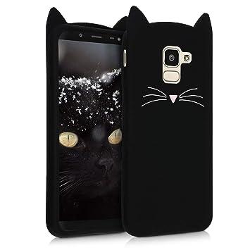 kwmobile 45807.01 Funda para teléfono móvil Negro - Fundas para teléfonos móviles (Funda, Samsung, Galaxy J6, Negro)