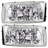 Driver and Passenger Headlights Headlamps Replacement for Nissan Mercury Van F6XZ13N053BB F6XZ13N053AB