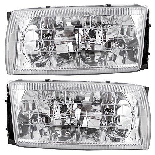 Driver and Passenger Headlights Headlamps Replacement for Nissan Mercury Van F6XZ13N053BB F6XZ13N053AB