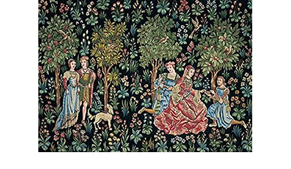 8 x 10 inches Scenes Galantes Medieval Wall Tapestry mono deluxe Needlepoint Canvas