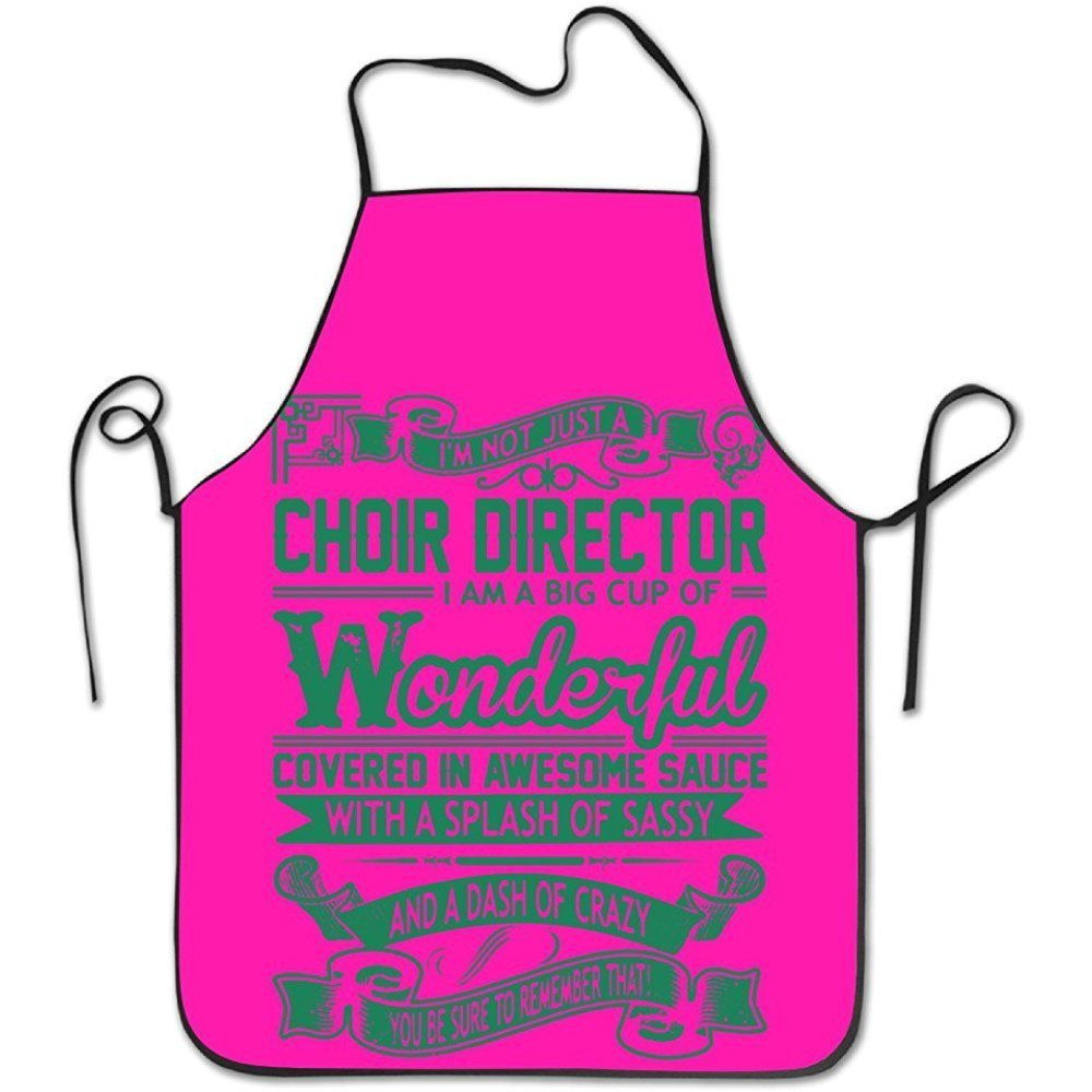 Choir Director Big Cup Wonderful Sauce Sassy Crazyキッチンエプロンシェフエプロン   B07DN4JQ5M