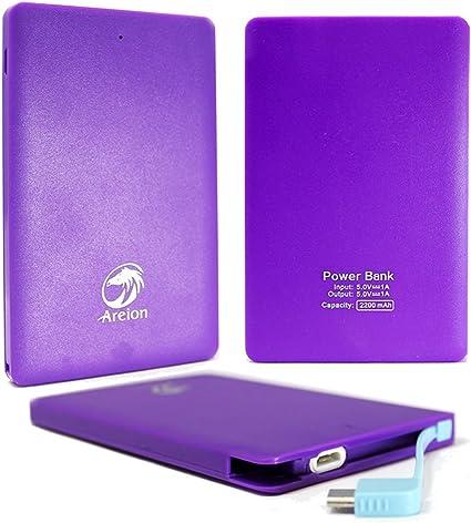 Amazon.com: Tarjeta de areion® 2200 mAh ultrafina Cargador ...