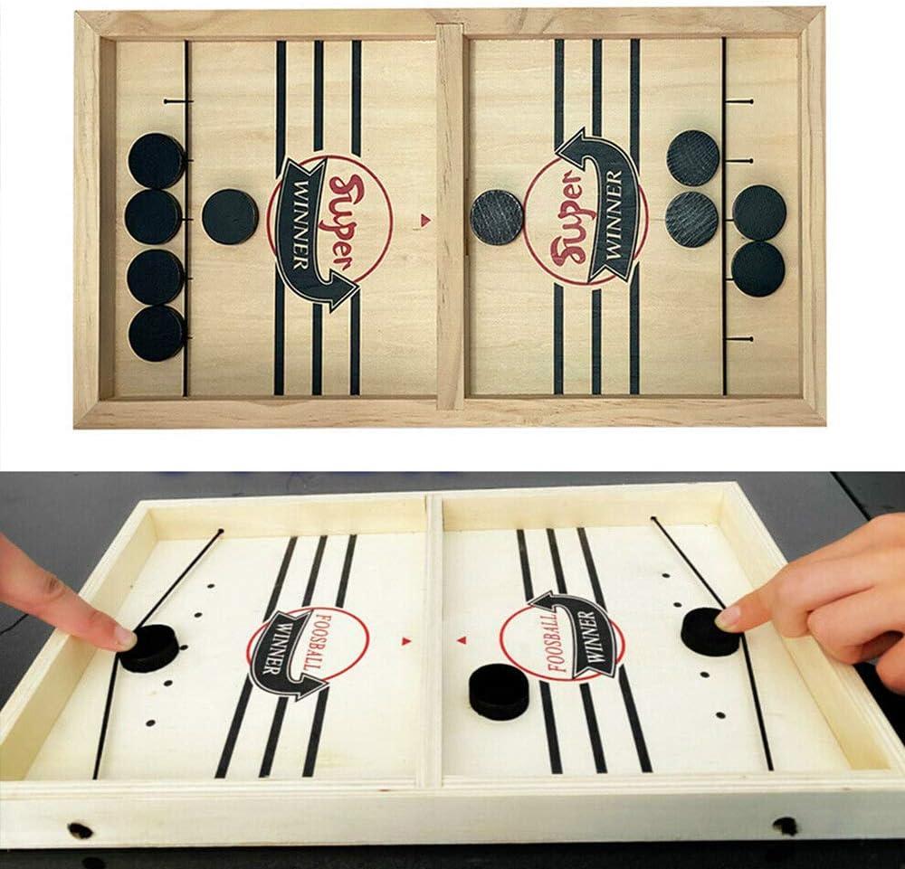 Paced Sling Puck Winner Brettspiele AETOSES Schnelles Sling Puck Brettspiel Holz Multi Tabletop Indoor Portable Brettspiele f/ür Kinder /& Familie