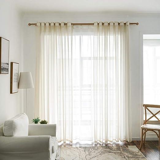 2pcs Valances Tulle Voile Door Window Curtain Drape Panel Sheer Scarf Divider FA