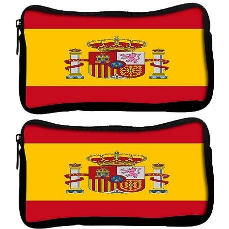 Snoogg Pack De 2 Bandera de España 2980 Tela estudiante ...