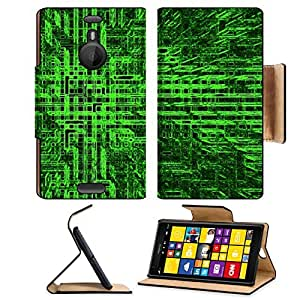 Abstract Green Square Cube Pattern Nokia Lumia Flip Case Stand Magnetic Cover Open Ports Customized Made to Order Support Ready Premium Deluxe Pu Leather MSD cover Professional Cases Accessories Graphic Background Covers Designed Model Folio Sleeve HD Tem