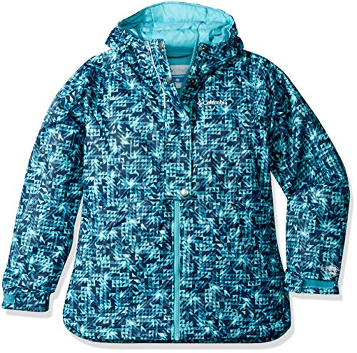 Columbia Girls Snowcation Nation Jacket, Pacific Rim Checkers Print, Small by Columbia
