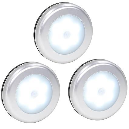 best authentic 7b6d4 033a4 Searik Motion Sensor Light, Battery Powered LED Night Light Step Lights  Stair Closet Light Under-Cabinet Lighting Stick On Anywhere Lamp for Home,  ...