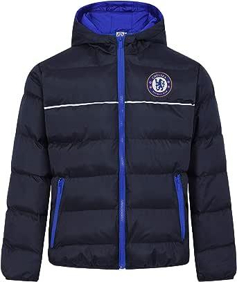 Chelsea FC - Plumífero acolchado oficial con capucha - Para niño
