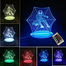3D Deco LED Lamp Night Light,7 Different Color is Adjustable Toy Gift(Spiderman)