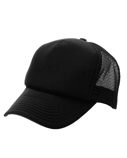 NYFASHION101 Blank Mesh Adjustable Snapback Cotton 6-Panel Trucker Hat Cap 977204ddbcb9