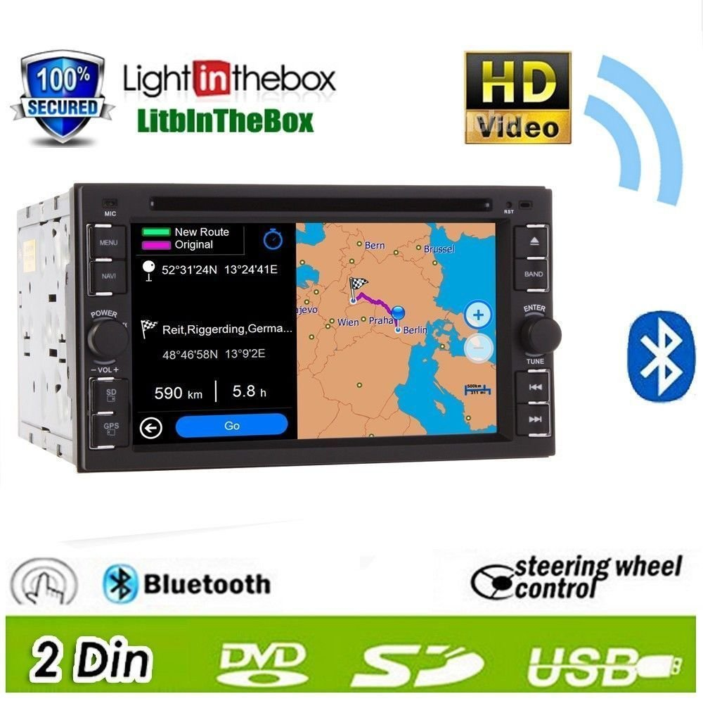 Ouku 2014 New Hot Model 62 Inch Double 2 Din In Dash Wire Harness Touch Screen Lcd Monitor With Dvd Cd Mp3 Mp4 Usb Sd Amfm Rds Bluetooth And Gps Navigation