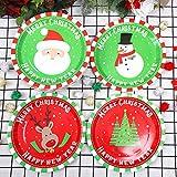 Aneco 60 Pieces Christmas Paper Plates Party Plates