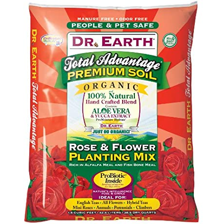 Dr Earth 805 1 1 2 Cubic Feet Rose And Flower Planting Mix