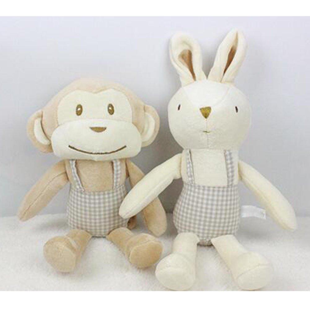 2 St/ück Highdas Baby S/äugling Newbron Supper Soft Appease Handtuch Komfort Blanket Spielzeugpuppen Pink