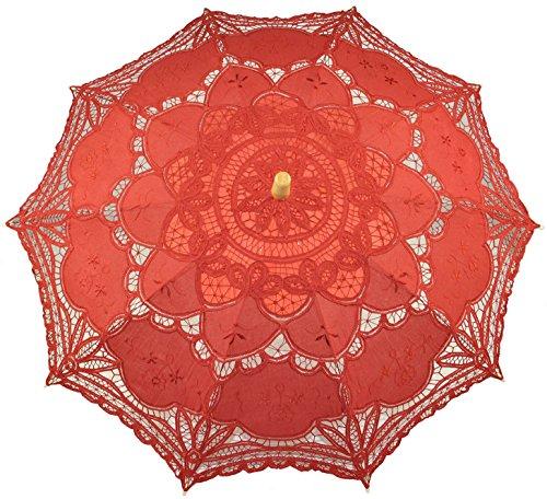 Vintage Scalloped Protective Parasol Umbrella