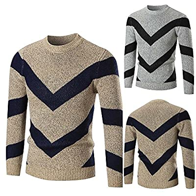 Forthery Mens Casual Knitted Slim Fit Pullover Sweater Knitwear