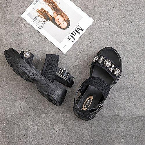 QQWWEERRTT Mode Rom Sandaleen Frauen Vintage Vintage Plattform Neue Sommer Universal Plateauschuhe Schuhe