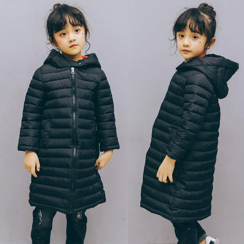 KONFA Teen Baby Boys Girls Winter Clothes,Cotton Down Jacket Hooded Zipper Windbreak,Kids Warm Thick Snowsuit Coat Set