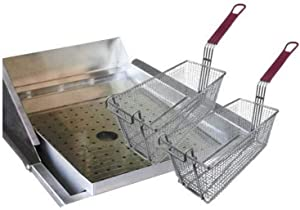 Cal Flame 089245002338 Grill Mounted Drop in Fryer, Stainless Steel
