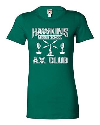 Amazoncom Juniors Hawkins Middle School Av Club T Shirt Clothing