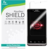 Motorola Droid Bionic Screen Protector RinoGear [Active Protection] Flexible HD Invisible Clear Shield Anti-Bubble