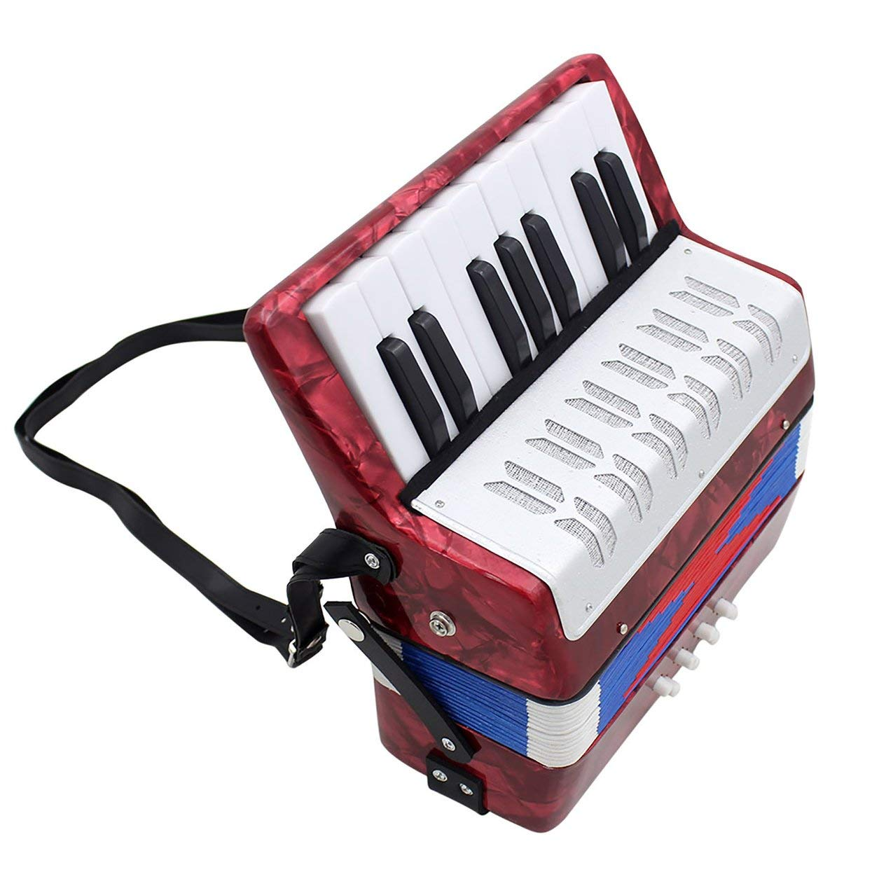17-Key 8 Bass Accordion Musical Toy for Educational Musical Instrument Simulation Learning Concertina Rhythm by Fashinlook (Image #6)