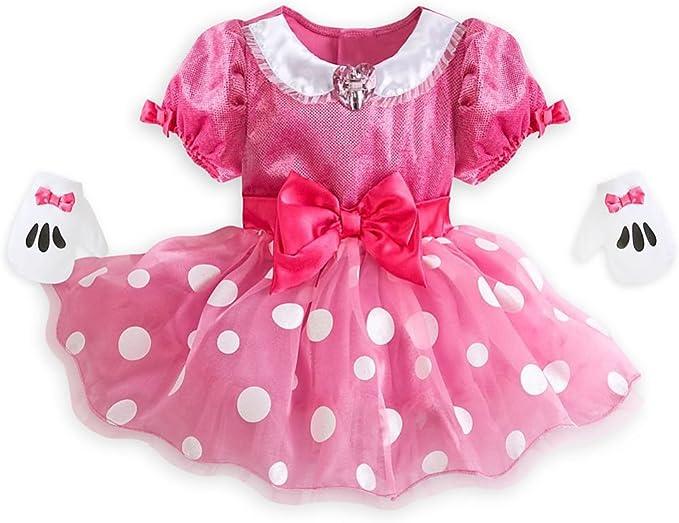 Tienda de Disney Minnie Mouse niña manga corta disfraz de vestido ...
