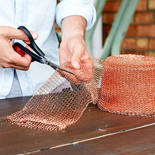 Nordstrand 50ft 5in Copper Mesh Pest Control - Rodent Proof Copper Wire Wool Roll - Fill Fabric Screen to Exclude Mice Rats Bat Bird Slug Snail